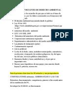 APUNTES IMPORTANTES DE DERECHO AMBIENTAL