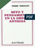 Jean-Pierre Vernant - Mito y pensamiento en la Grecia Antigua-Ariel (1973)