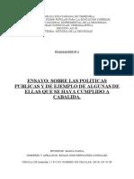ENSAYO_SOBRE LAS POLITICAS PUBLICAS