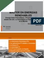 1 - Energía Solar Fotovoltaica 2020 2021 – Presentación General, estado del arte. La fotovoltaica en España, en Europa y en el Mundo