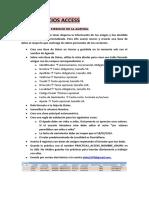 EJERCICIOS ACCESS CASO PRÁCTICO 1. EJERCICIO DE LA AGENDA.