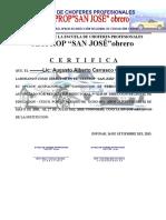 Certificado de Director