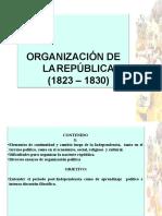 ORGANIZACION DE LA REPÚBLICA EN CHILE 1823 - 1830