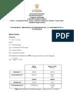 Informe fotosíntesis