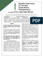 Gaceta Municipal Ext 142 Reforma Parcial de La Ordenanza de Impuestos de Propaganda y Publicidad