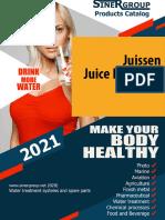 Juissen juice extractor catalog