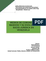 Medios de Comunicación Masivos y Su Evolucion Socio-juridica en Venezuela