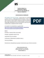 2021.03.19 - Comunicado ao Mercado - Live Canal Youtube - Suno