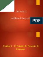 Unidad I - El Estudio de Proyecto de Inversión
