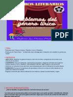 Hablemos de los Géneros Literarios Diapositivas