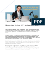 How to hire SEO Freelancer in Surat