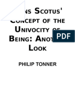 Tonner, Philip - Duns Scotus concept of the univocity of being. Another look