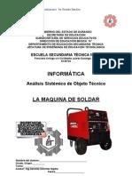 Análisis Sistémico de Objeto Técnico La Maquina de Soldar