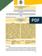 Jurisprudencia del Consejo de Estado frente a la responsabilidad administrativa del Estado- Policía Nacional de Colombia en relación con los hechos personales del policía (2011-2016)