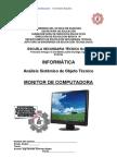 Análisis Sistémico de Objeto Técnico El Monitor de Computadora
