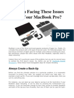 Are You Facing These Issues With Your MacBook Pro