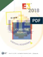 E3 2018 Exhibitor Manual