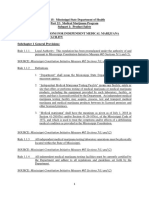 REGULATIONS FOR INDEPENDENT MEDICAL MARIJUANA  TESTING FACILITY