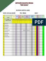 REGISTRO DE ASISTENCIA - PERU SCHOOL_3°