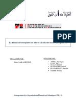 La Finance Participative au Maroc  Etats des lieux et perspectives