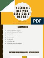Cours Services Web APIs Programmation Ditribuee
