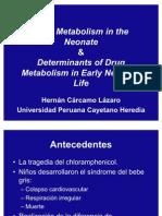 Metabolismo de drogas en neonatos