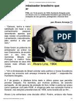 Álvaro Lins, o embaixador brasileiro que enfrentou Salazar