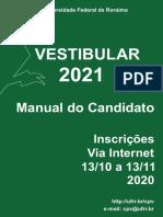 manual do candidato - vestibular ufrr 2021