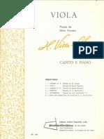 Villa-Lobos e Romero, Silvio - Miniaturas No.2 Viola (Red. Canto e Piano)