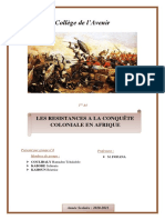 Les résistances à la conquête coloniale en Afrique_exposé