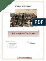 Les conquêtes militaires (en Afrique)_exposé