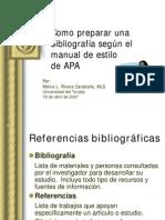 Cómo preparar una bibliografía
