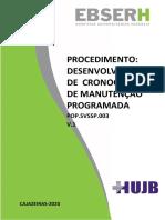 POP.UEC.003 - DESENVOLVIMENTO DE CRONOGRAMA DE MANUTENÇÃO PROGRAMADA