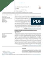 Fernández, A & Serra, L. (2020). Vida Comunitaria Para Todas Salud Mental, Participación y Autonomía. Informe SESPAS 2020. Leido
