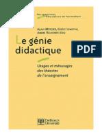 Le génie didactique-Usages et mésusages des théories de lenseignement