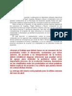 Interpretación de los postulados sobre el desarrollo y su relación con el origen social de los procesos mentales