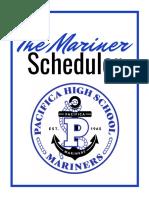 the mariner scheduler for 2019-2020 school year  2
