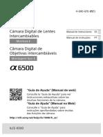Sony A6500 - Manual de instruções PT