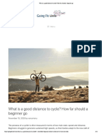 What is a good distance to cycle_ How far should a beginner go