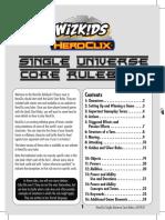 HeroClix Single Universe Core Rules v.2019.01