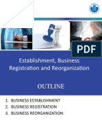 BUSINESS REGISTRATION AND REORGANIZATION