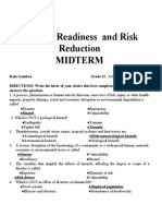 MIDTERM Disaster Readiness and Risk Reduction