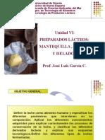 UNIDAD VI PREPARADOS LÁCTEOS MANTEQUILLA-CREMA-HELADOS