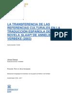 la transferencia de las referencias culturales en la traducción española de la novela slaap