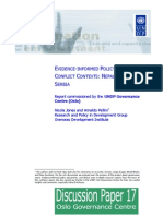 EVIDENCE-INFORMED POLICY IN POSTCONFLICT CONTEXTS