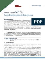 I. LAS DIMENSIONES DE LA PERSONA