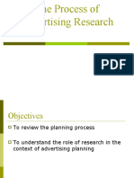 ADVERISING RESEARCH PROCESS