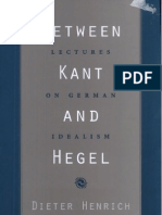 Henrich D., Between Kant and Hegel - Lectures on German Idealism