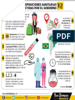 Medidas sanitarias frente a nueva cepa brasileña