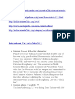 international current affairs 2011